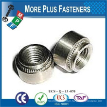 Made in Taiwan Self Clinching Nut Clear Passivated Zinc Stainless Steel Nonlocking Floating Aluminum