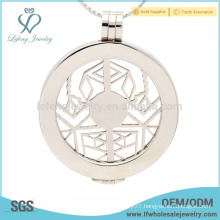 Fashion floating plate stainless steel coin locket,letter locket