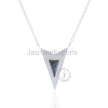 Оптовый Поставщик для Лабрадорит серебро 925 пробы серебро ожерелье Кулон