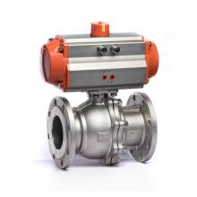 Q641F-16P SS304 Flange Pneumatic Water Ball Valve