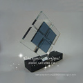 beautiful 3D laser crystal rose cube with LED light,crystal souvenir