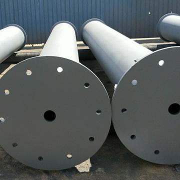 Sección soldada de tubería de acero para construcción de metro