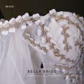 2017 Novo vestido de casamento de design vestido de noiva de mangas compridas para a noiva
