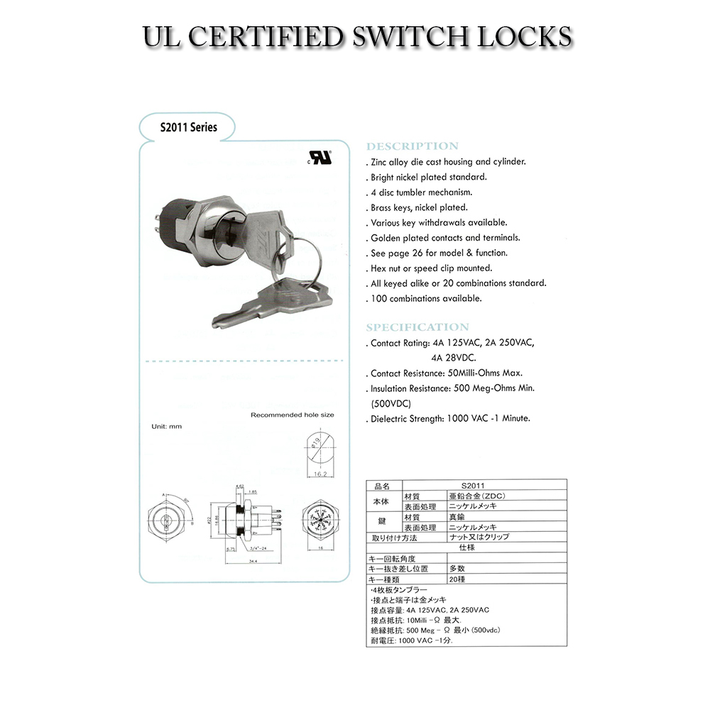 Golden plated Contacts Switches
