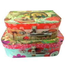 Custom alta calidad de lujo de cartón de la maleta / caja de embalaje de papel de regalo al por mayor de regalo