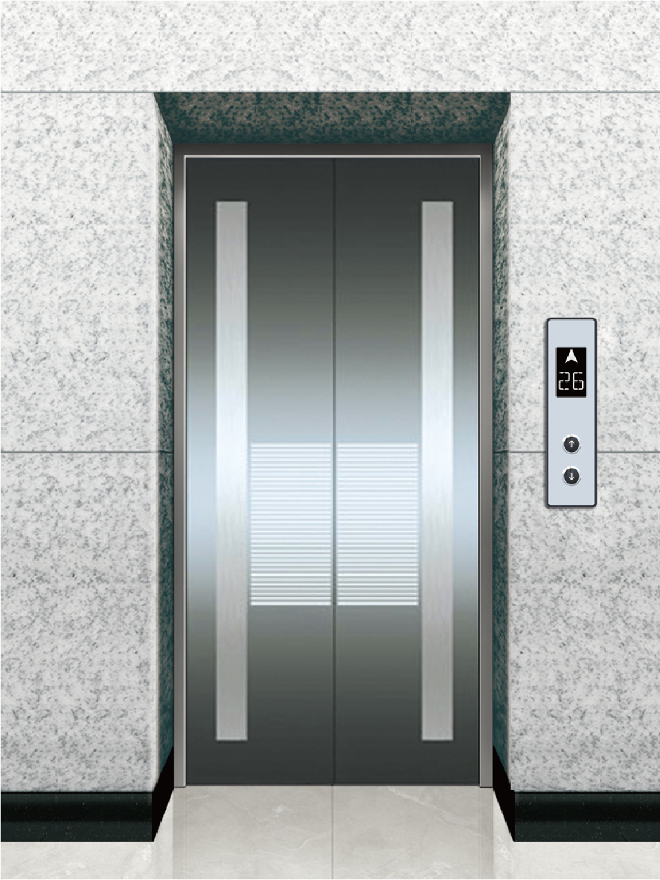 China elevator etched stainless steel landing door for Door manufacturers