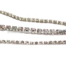 Moda de alta qualidade de metal de cristal cristal strass cadeia