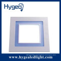 SMD2835 dimmable warm white natural white cool white glass ultra-thin led recessed ceiling panel light