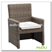 Audu Outdoor Furniture Общее использование и без складных высоких спин-плетеных стульев из ротанга