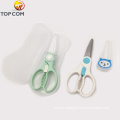 Infant Sharp With Cover Ceramic Blade Kids Safe Baby Food Stainless Steel Scissors