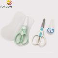 Младенческая Sharp с крышкой Керамическое лезвие Дети Безопасное детское питание Ножницы из нержавеющей стали