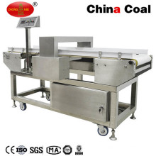Gj-4 Transportador de alimentos congelados Equipo de detección de metales para la hebilla de papel de aluminio