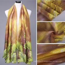 beau! Grande texture soyeuse droite tissu femmes 100 voile longue taille impression abaya tête musulman hijab usine écharpe