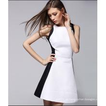 Vestido 2016 de las mujeres elegantes de la venta caliente con la cremallera