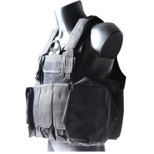 Tactical Steel Wire Vest Molle Combat Strike Plate Carrier Ciras Vest with 1 Map Pouch