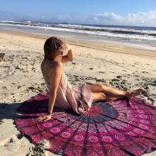 Toallas de playa de fibra grande de fibra redonda india