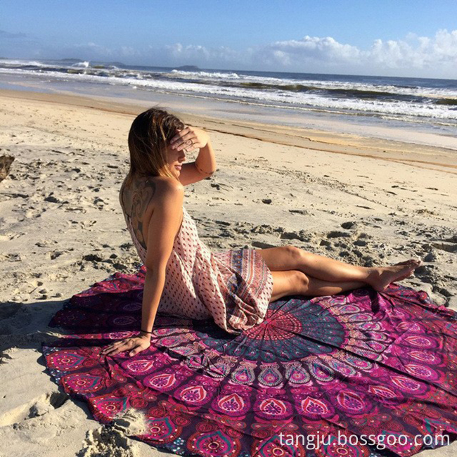 turkish round beach towel