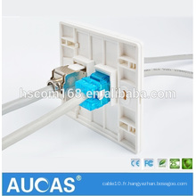 China Wholesale Wall Key Wall Wall Jack RJ 45 Cat5 e UTP Network Wall Jack