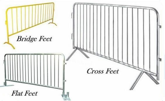 crowd control barrier types