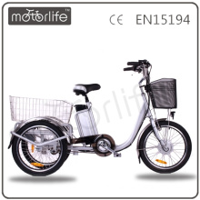MOTORLIFE/OEM brand EN15194 cheap 250w electric three wheel bicycle