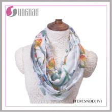 2016 Spring Ink and Wash Painting Vintage Cotton Infinity Scarf