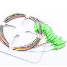 Sc / APC 12 Color 0.9mm fibra óptica coleta
