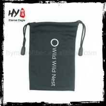 Bolsa de tela pequeña recomendada caliente, bolsa de gafas de microfibra al por mayor, bolsa de gafas de sol personalizada