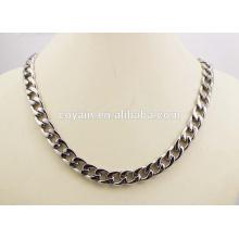 Pulseira de aço inoxidável e colar de corrente cadeia punk conjunto de jóias