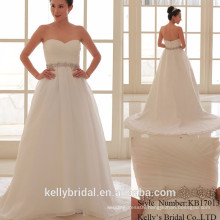 2017 hot selling classic exposed back sexy fashion bride's wedding dress