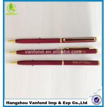 mejor vende pluma regalo metal promocional para la promoción de la fábrica de la pluma