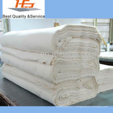 Gros blanc 100 coton tissu moins cher pour lit feuille à plat