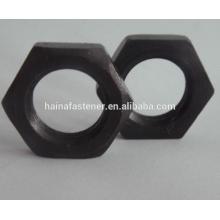 Шестигранная шестигранная гайка DIN 934 из черной углеродистой стали