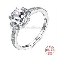 Silberne Hochzeit der neuesten Silberringe der China-Fabrikversorgung heißen Verkauf spätester silberner Entwurf für Geschenk, Verlobungshochzeit