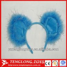 Niedliche und schöne blaue Plüschhaarbänder für Kinder