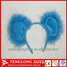 cute and lovely blue plush hair bands for kids