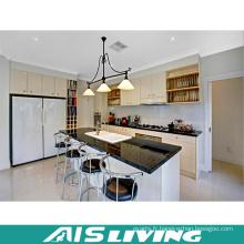 Meubles d'armoires de cuisine à la porte en acrylique blanc chaud (AIS-K186)