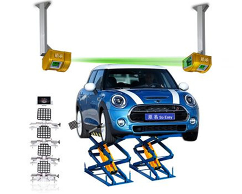 Wheel alignment for mini-scissor lift