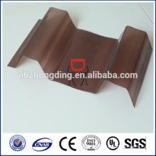 Feuille de poycarbonate de toiture en plastique ondulé de 1 mm