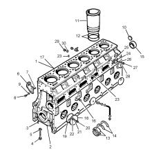Pièces de rechange pour moteur Diese