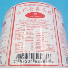 etiqueta engomada impermeable del sabor de la laminación de la etiqueta engomada del vinilo de la impresión para la venta