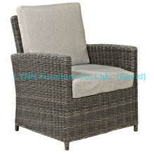 Balcony Rattan Armchair with Cushion Garden Furniture