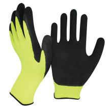 NMsafety moins cher 13gauge polyester revêtement mousse latex enduit gants de travail à la main