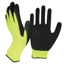 NMsafety cheapest 13gauge polyester liner foam latex coated hand work gloves