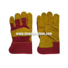 Cow Split Leather Palm Work Glove--3080