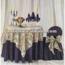 Tecido jacquard capas de cadeira e mesa ou casamento