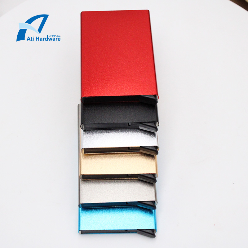 Automatic pop-up credit card holder