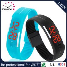 Gymnase imperméable à l'eau de silicone de sports en plein air exécutant la montre-bracelet réglable de LED
