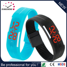 Outdoor Sports Silicone Waterproof Digital Gym Running LED Adjustable Wrist Watch