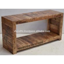 Mango Wood Industrial Urban Loft Coffee Table