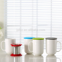 400cc tea infuser mug with silicone lid
